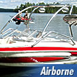 Airborne wakeboard towers