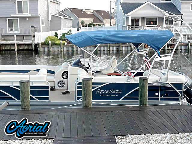 Wakeboard tower for 2012 Godfrey AquaPatio Coastal Edition pontoon boat