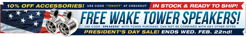 Wakeboard tower specials