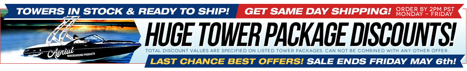 Wakeboard towers for boat on sale