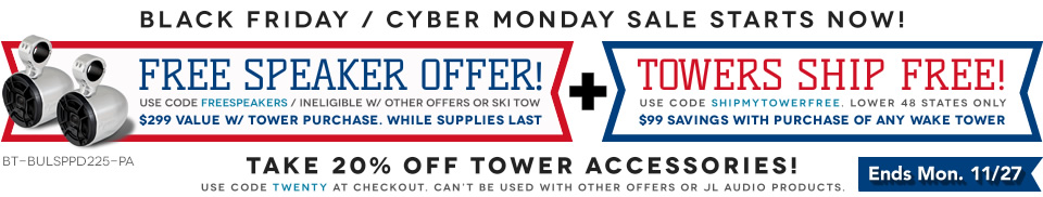 Boat wakeboard tower specials