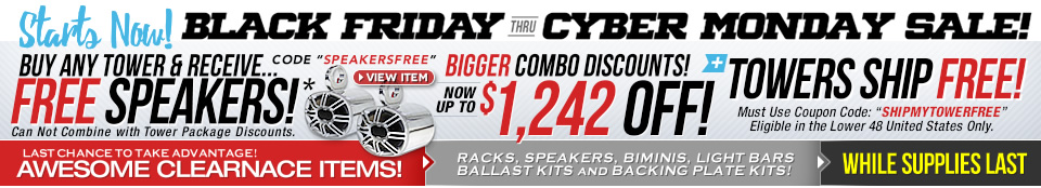 black friday cyber monday wakeboard tower sale