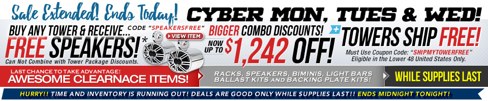 cyber monday wakeboard tower sale