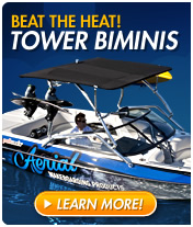 Add shade to your boat with tower biminis