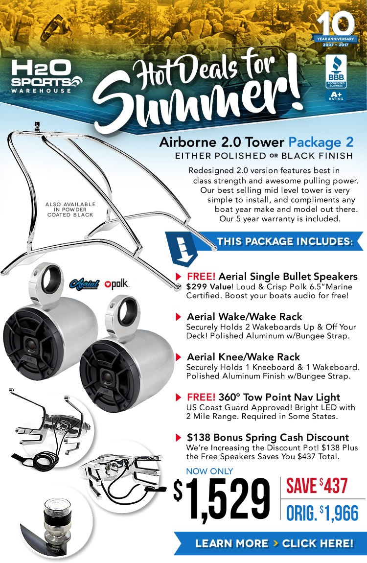 Aerial Airborne Wakeboard Tower Package Special