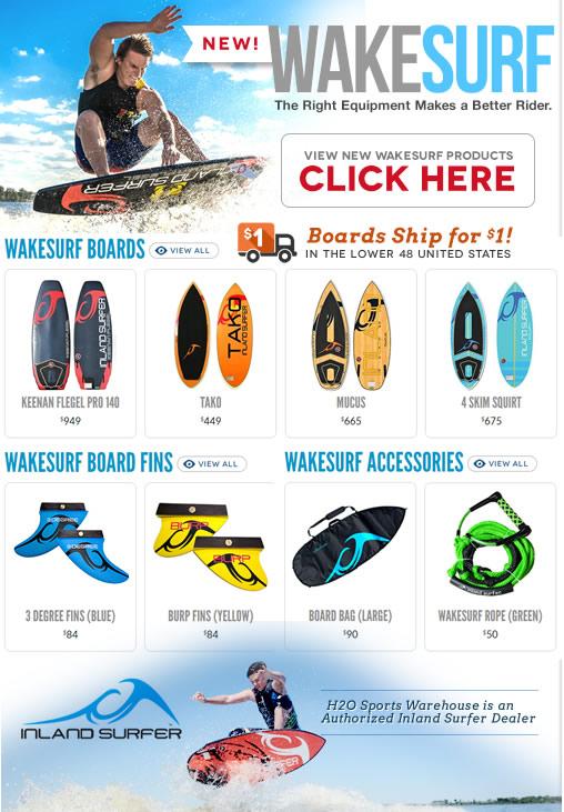New Wakesurf Boards & Accessories