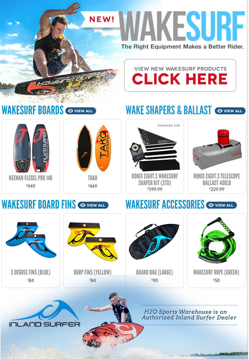 New Wakesurf Boards & Accessories