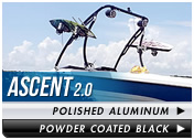 Aerial Ascent Wakeboard Tower fits 67 inch to 97 inch beam widths