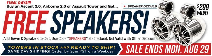Wakeboard tower speaker special