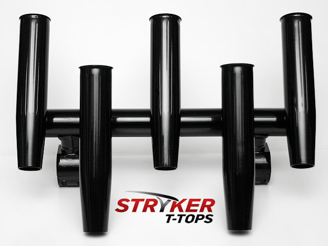 black 5 fishing rod holder for boat t-tops