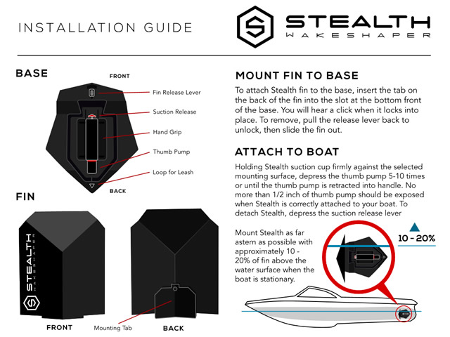 Stealth wakeshaper installation guide
