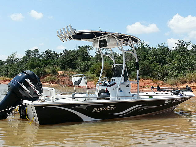 T top for 2008 Blue Wave 190 Deluxe boats 102808-5