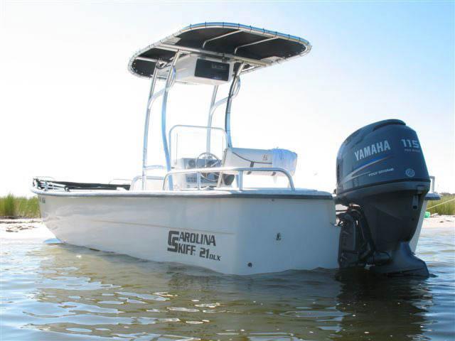 t top for Carolina Skiff center console boat