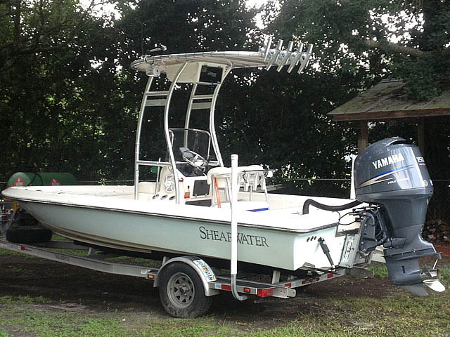 T top for 2008 Shearwater 20' Tournament Edition boats 149100-4