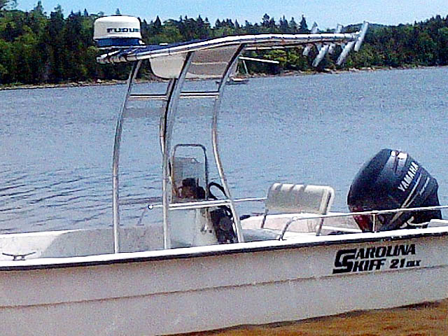 T top for 2004 Carolina Skiff 21 DLX boats 156492-2