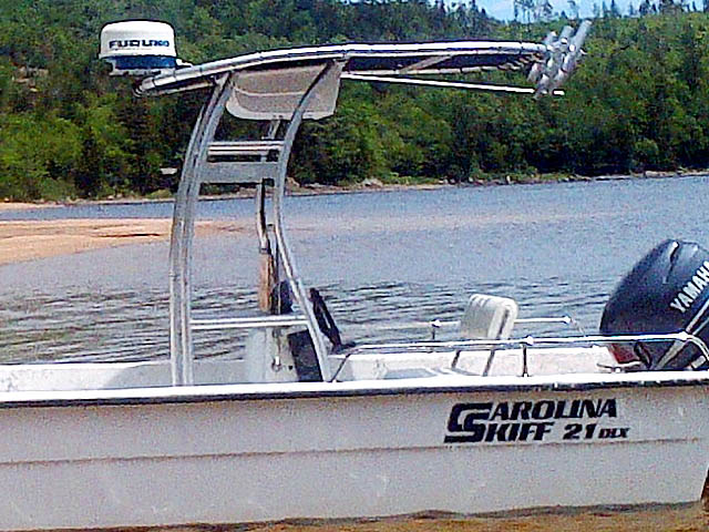 T top for 2004 Carolina Skiff 21 DLX boats 156492-4