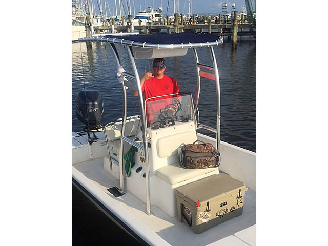t top for 2005 Blue Wave 22ft center console boat