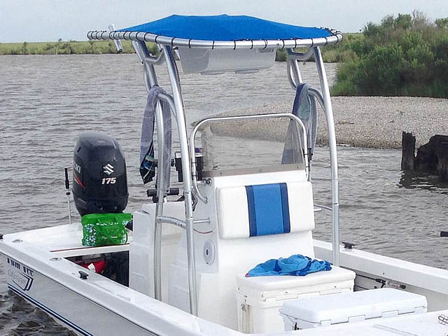 T top for 2014 Twin Vee 22' Bay Cat boats 158582-2