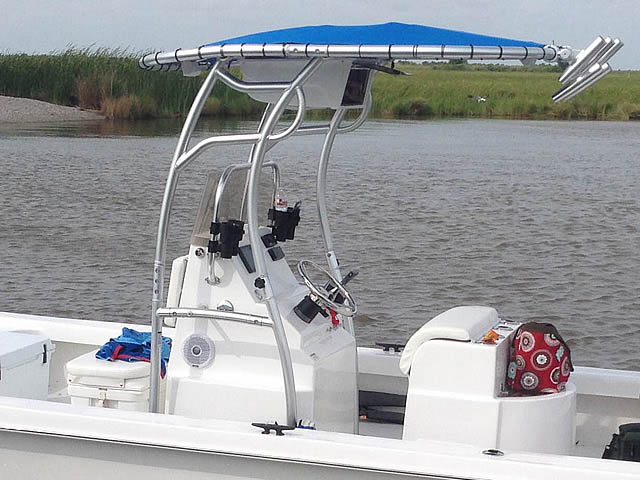T top for 2014 Twin Vee 22' Bay Cat boats 158582-6