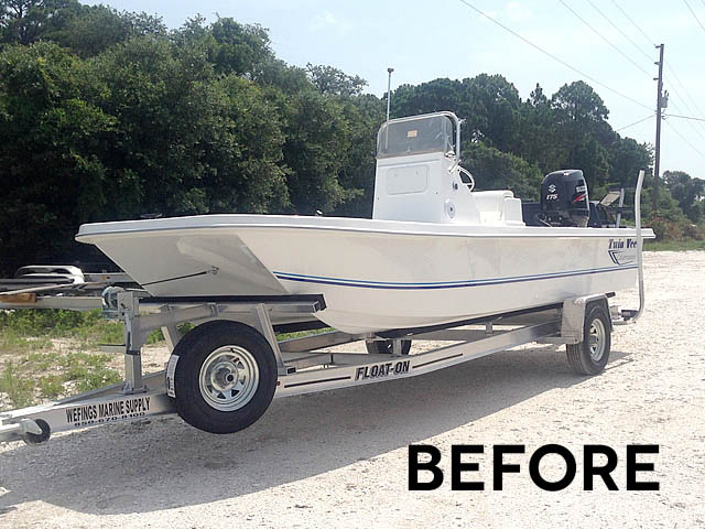 T top for 2014 Twin Vee 22' Bay Cat boats 158582-8