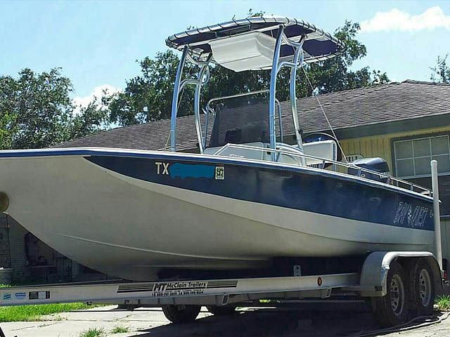 t top for 2001 22' BayQuest  center console boat