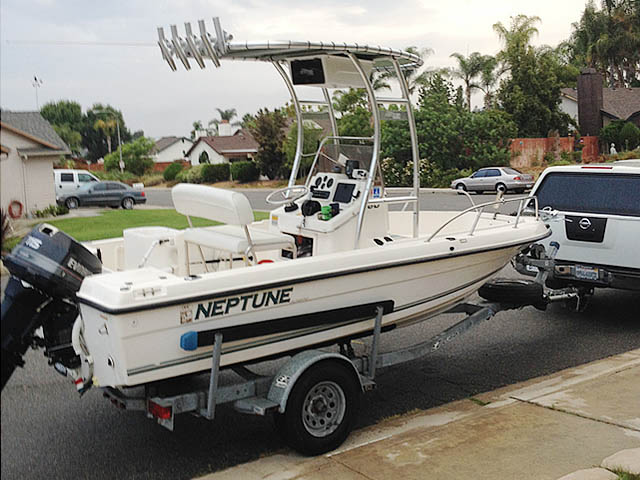 t top for 18' 1996 Sunbird Neptune  center console boat