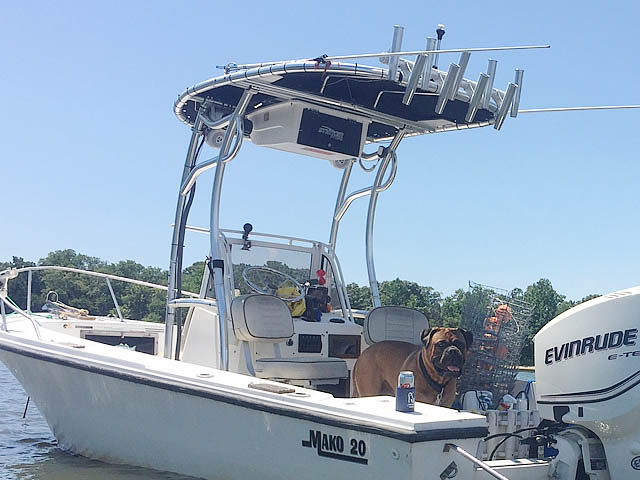 T top for  1982 Mako 20' boats 160143-2