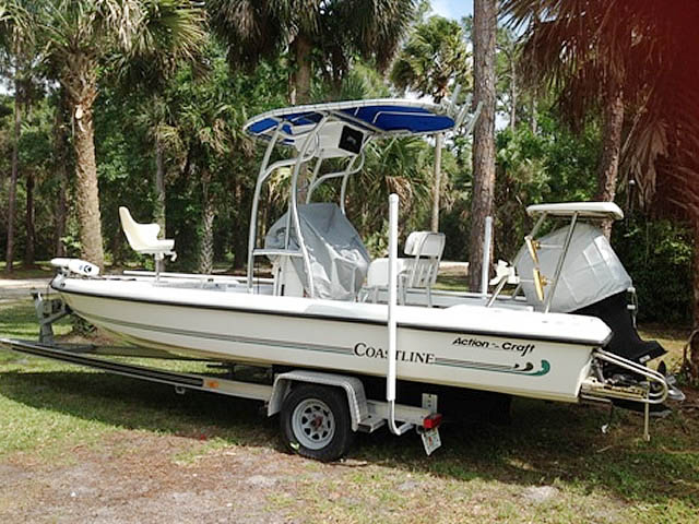 T top for 21' 1996 Action Craft Coastline Island Runner boats 161520-2