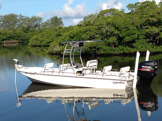 t top for 2014 Blue Wave 250 Open center console boat