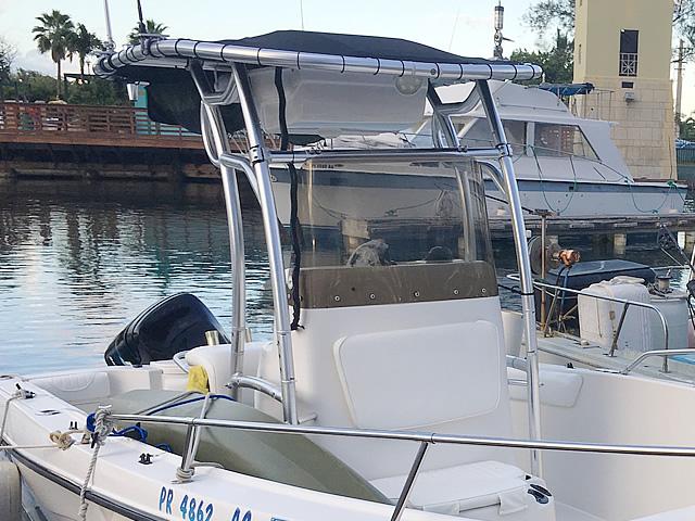 T top for 2005 SeaSwirl Striper 25 Center Console  boats 184112-6