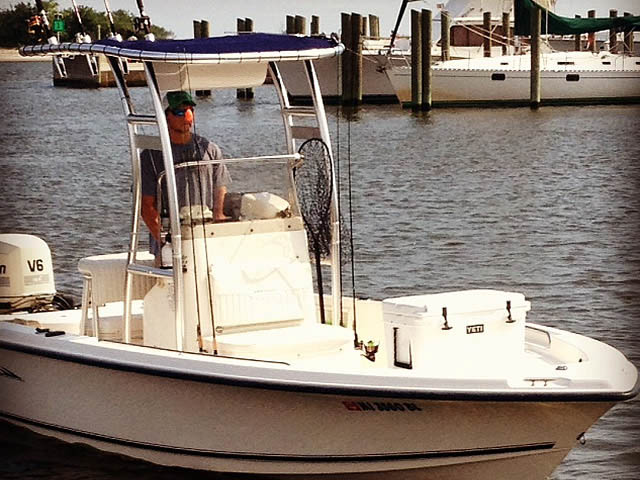 t top for 2005 Sea Hunt Navigator 22' center console boat