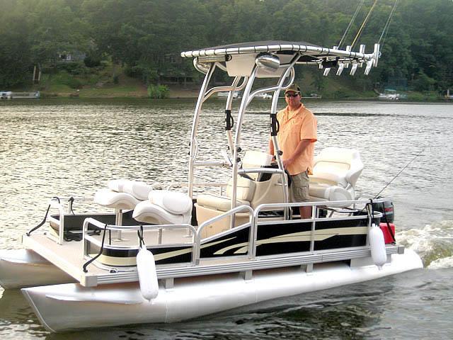 T top for Godfrey Sea Ryder Pontoon / Custom boats 73546-2