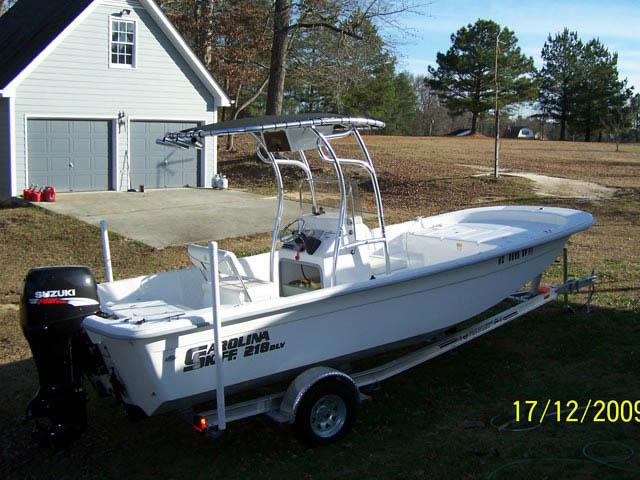 t top for 2009 Carolina Skiff DLV center console boat