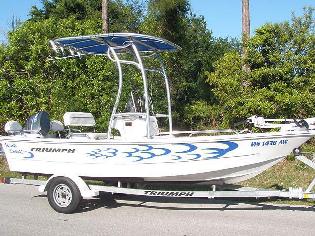 t top for 2007 Triumph Center Console center console boat