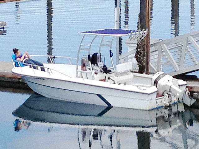 T top for 1988 Angler 21' Center Console boats 98675-2