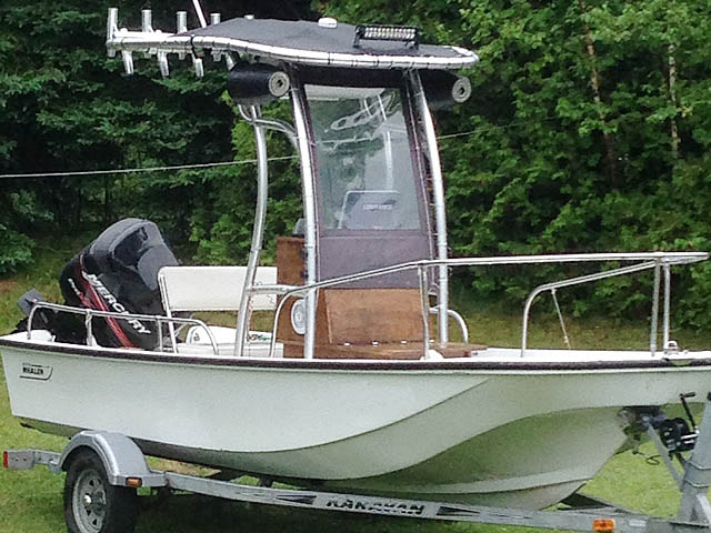 t top for 1979 Boston Whaler Montauk 17' center console boat