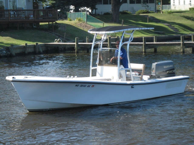 "t top for 21'6"" Privateer center console boat"