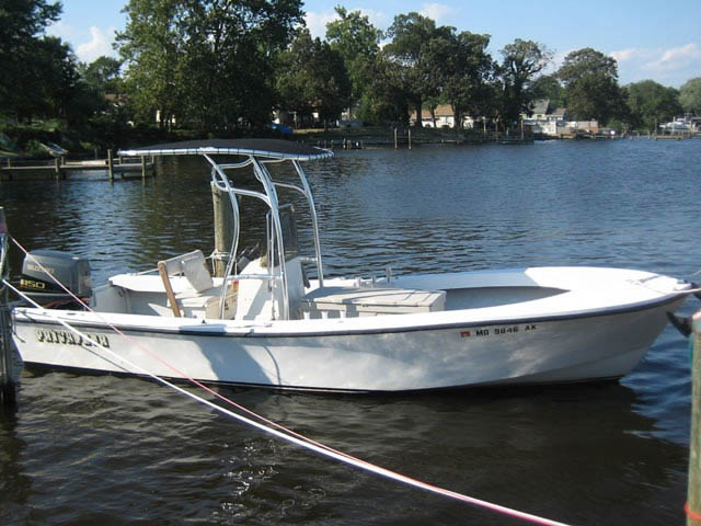 "T top for 21'6"" Privateer boats 9953-2"