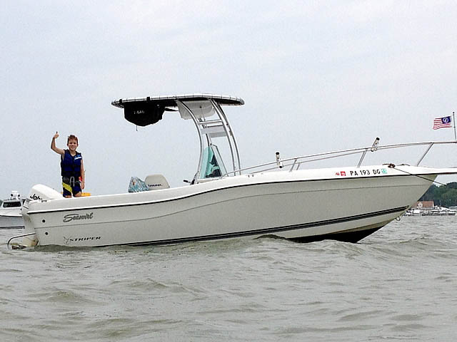 t top for 1998 Seaswirl Striper 21'CC center console boat