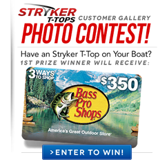 Stryker T-Tops for Trophy Center Console Boats