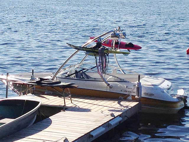 wakeboard towers for Campion Allante 505ss boats using Aerial Ascent Tower