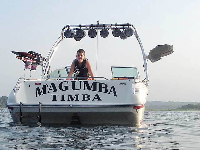 1991 Sea Ray 225 boat wakeboard towers