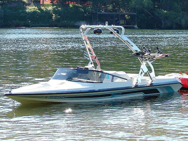 1993 Malibu Flightcraft Sportster boat wakeboard towers