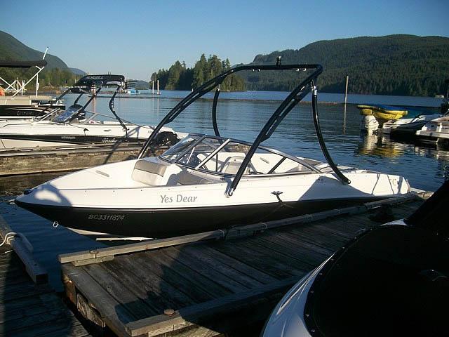 2012 175  Bayliner boat wakeboard tower