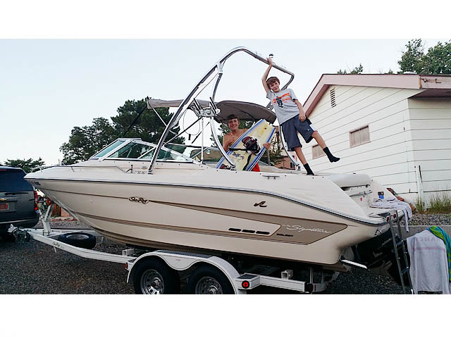 1994 Sea Ray Signature Select 220 boat wakeboard towers