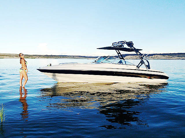 2002 Reinell 240-BR boat wakeboard towers installed on 09/30/2014