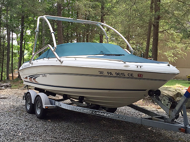 1997 Sea Ray 190 boat wakeboard towers