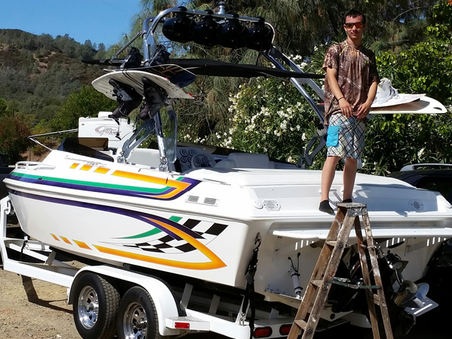 2000 Carrera 22.8 boat wakeboard tower