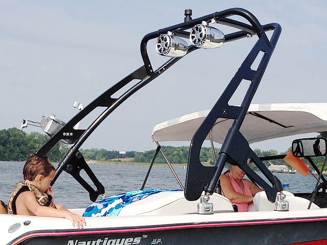 1995 Ski Nautique boat wakeboard towers installed on 10/10/2015