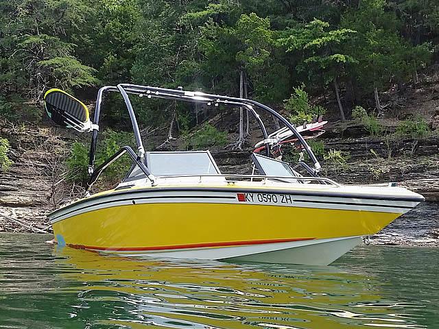 1986 Supra Saltare boat wakeboard tower